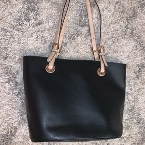 Black and tan MK purse